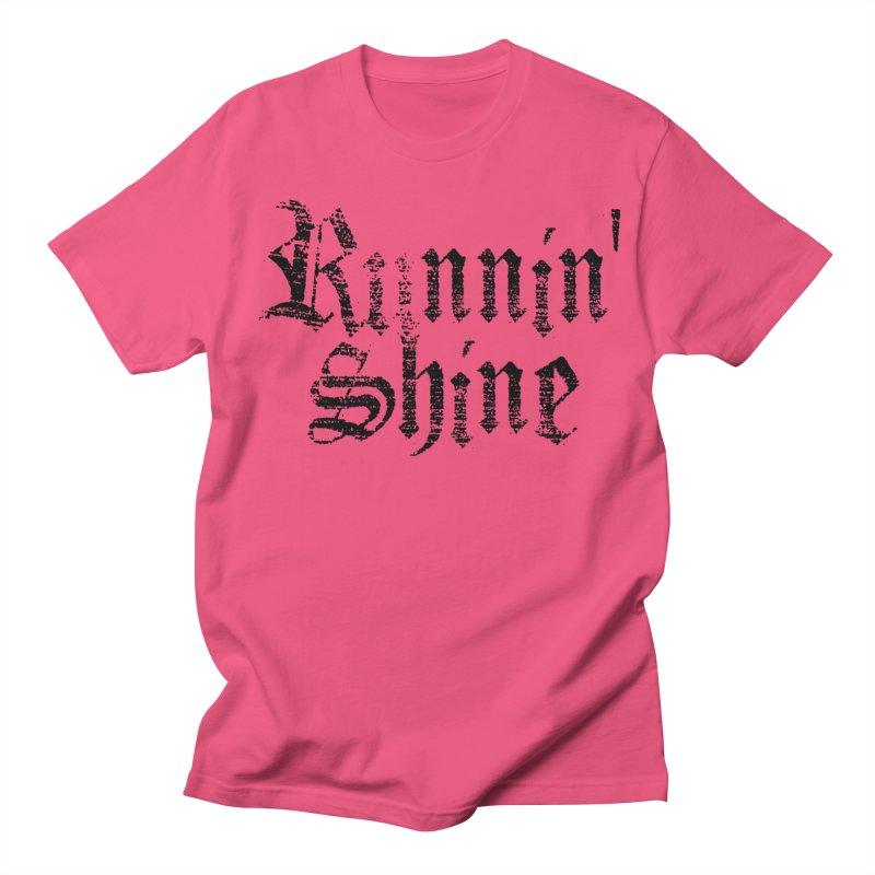 Black Logo Women's Regular Unisex T-Shirt by Runnin' Shine Store