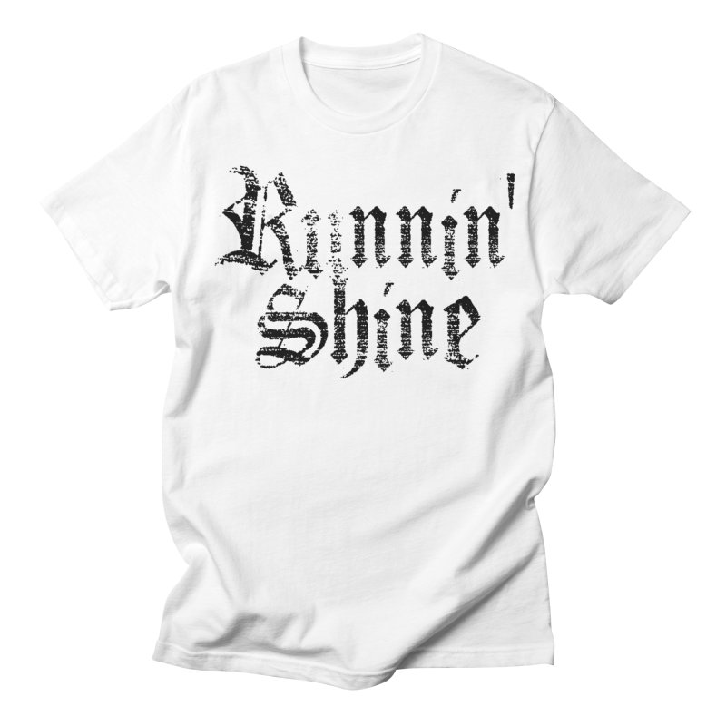 Black Logo Men's Regular T-Shirt by Runnin' Shine Store