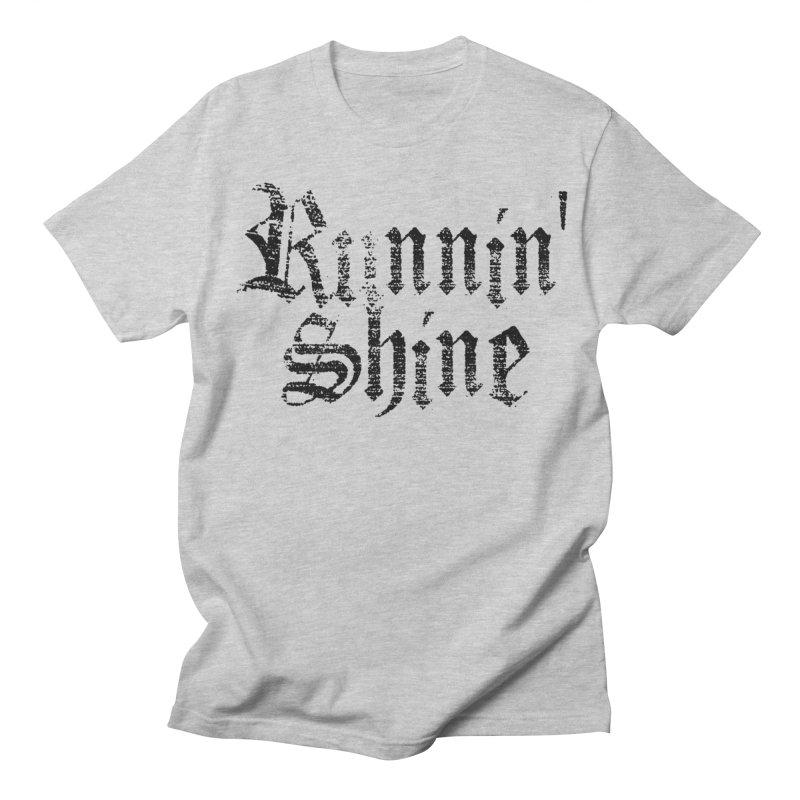 Black Logo Men's Regular T-Shirt by Runnin' Shine Store