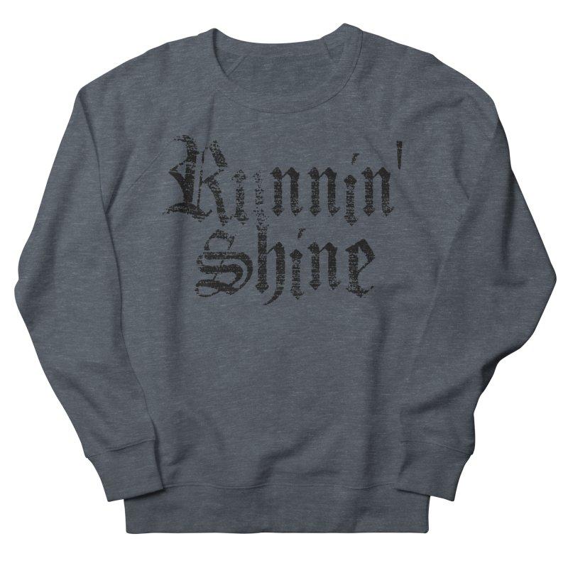 Black Logo Women's French Terry Sweatshirt by Runnin' Shine Store