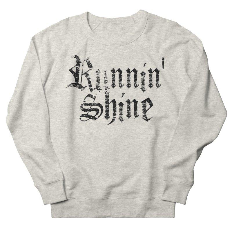 Black Logo Men's French Terry Sweatshirt by Runnin' Shine Store
