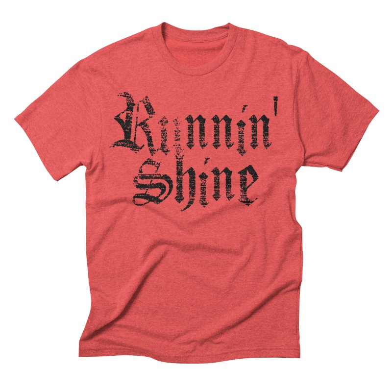 Black Logo Men's Triblend T-Shirt by Runnin' Shine Store