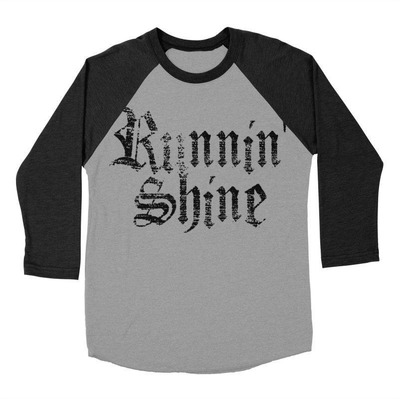 Black Logo Women's Baseball Triblend Longsleeve T-Shirt by Runnin' Shine Store