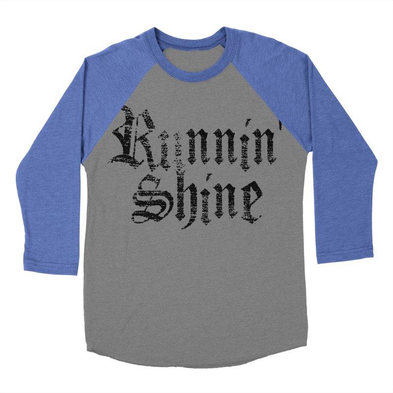 Black Logo Men's Baseball Triblend Longsleeve T-Shirt by Runnin' Shine Store