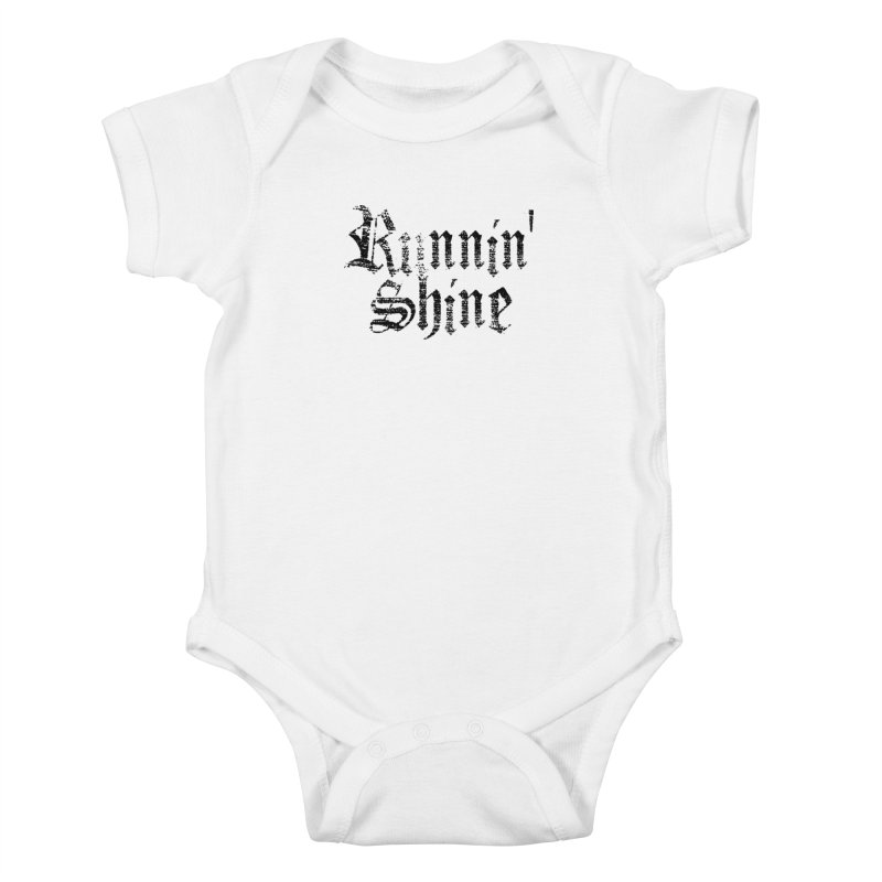 Black Logo Kids Baby Bodysuit by Runnin' Shine Store