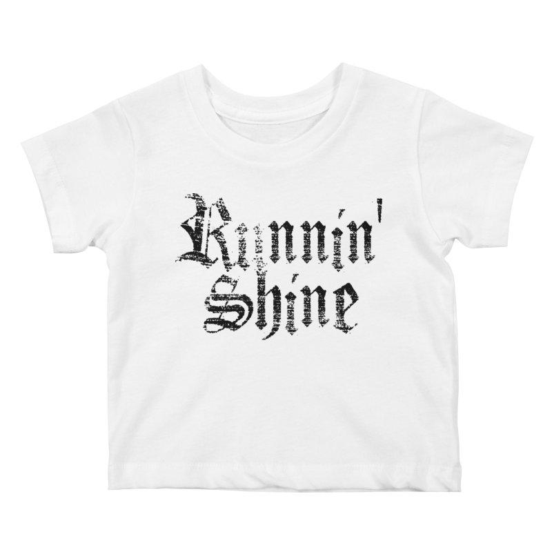 Black Logo Kids Baby T-Shirt by Runnin' Shine Store