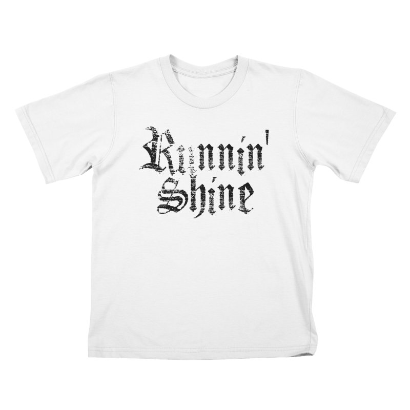 Black Logo Kids T-Shirt by Runnin' Shine Store