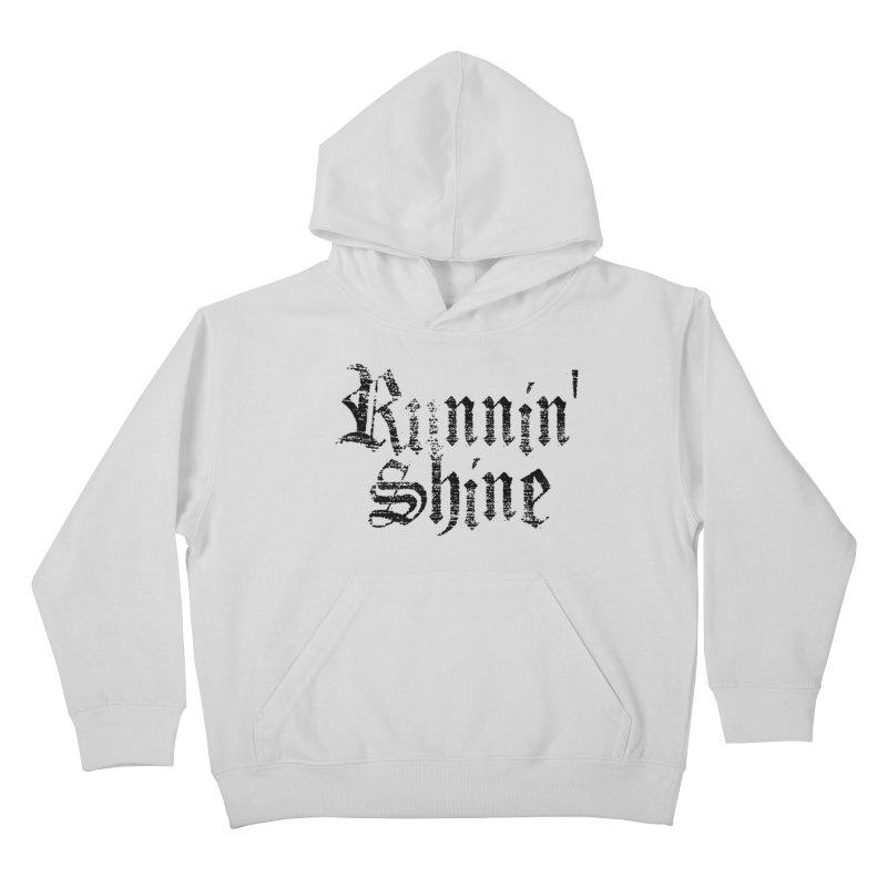 Black Logo Kids Pullover Hoody by Runnin' Shine Store