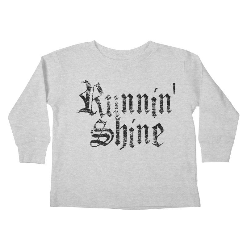 Black Logo Kids Toddler Longsleeve T-Shirt by Runnin' Shine Store