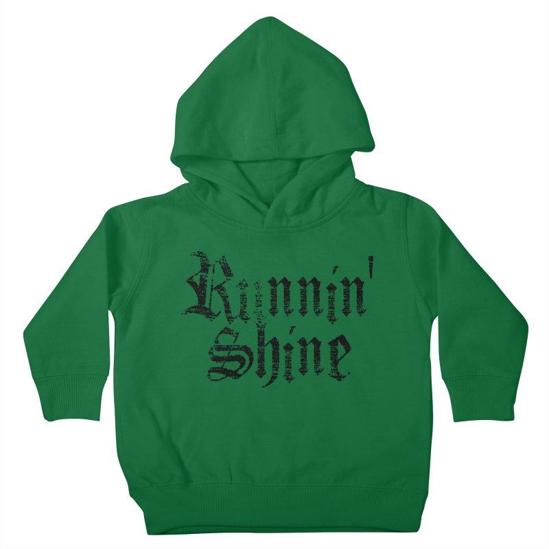 Black Logo Kids Toddler Pullover Hoody by Runnin' Shine Store