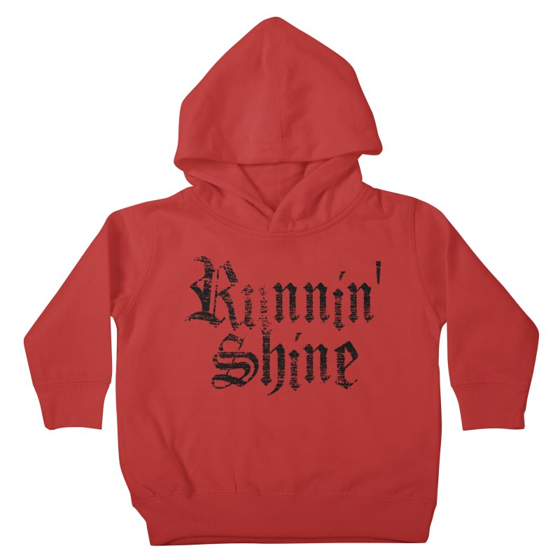 Black Logo Kids Toddler Pullover Hoody by Runnin' Shine Store