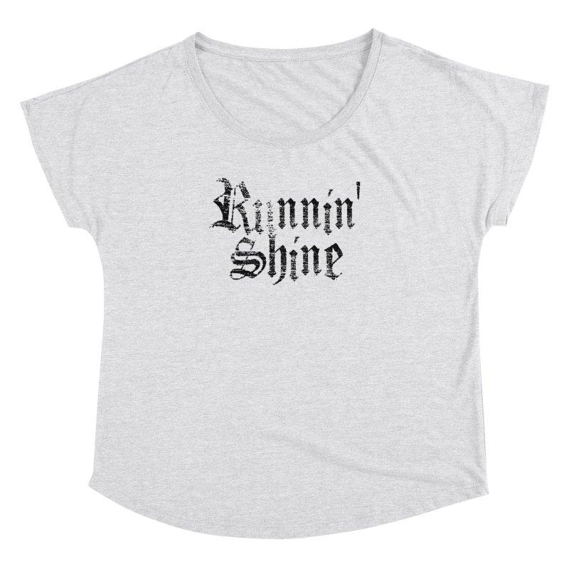 Black Logo Women's Dolman Scoop Neck by Runnin' Shine Store