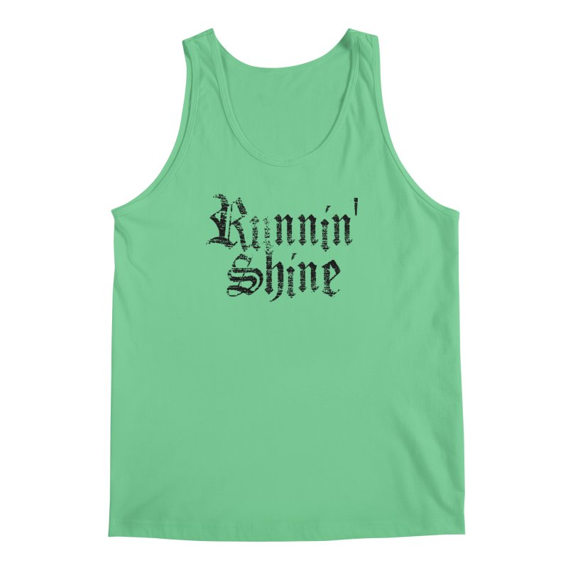 Black Logo Men's Regular Tank by Runnin' Shine Store