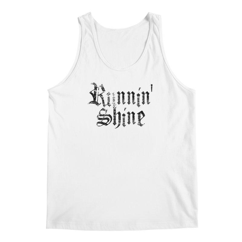 Black Logo Men's Regular Tank by Runnin' Shine Store