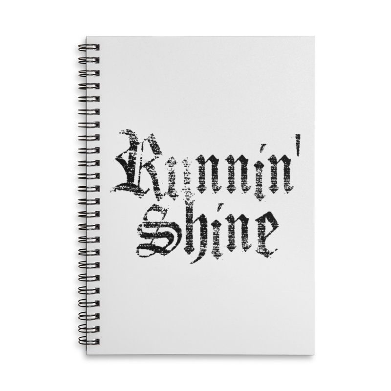 Black Logo Accessories Lined Spiral Notebook by Runnin' Shine Store