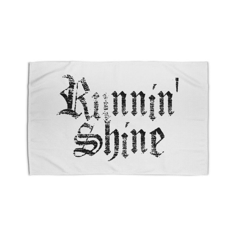 Black Logo Home Rug by Runnin' Shine Store