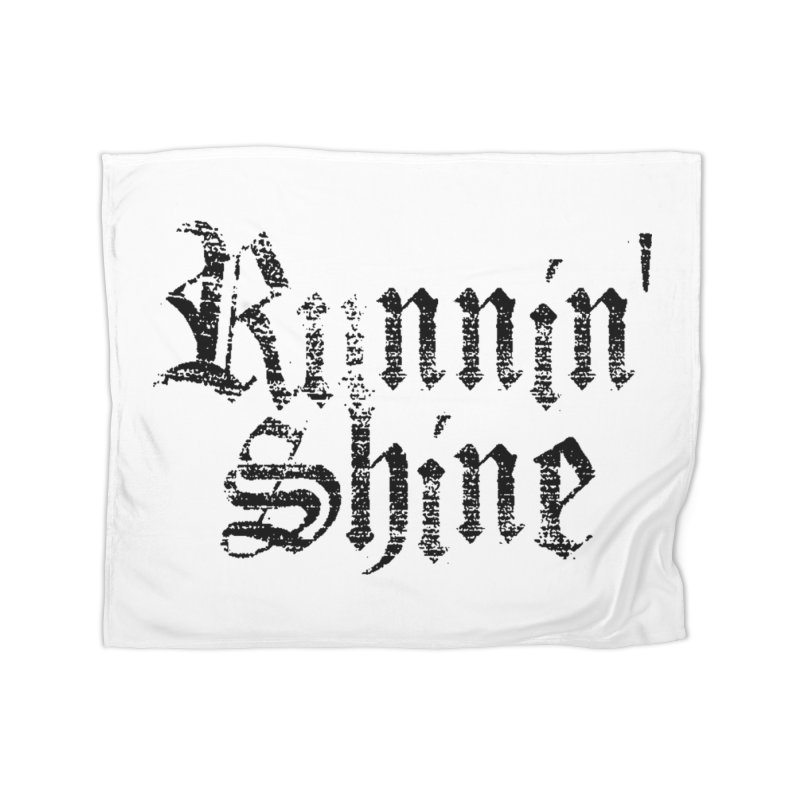 Black Logo Home Fleece Blanket Blanket by Runnin' Shine Store