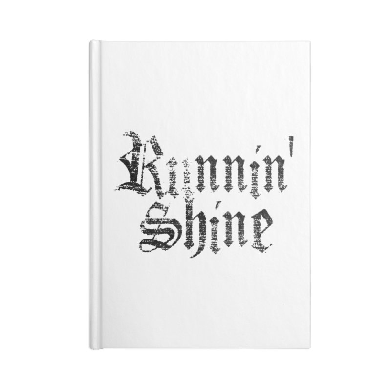 Black Logo Accessories Lined Journal Notebook by Runnin' Shine Store
