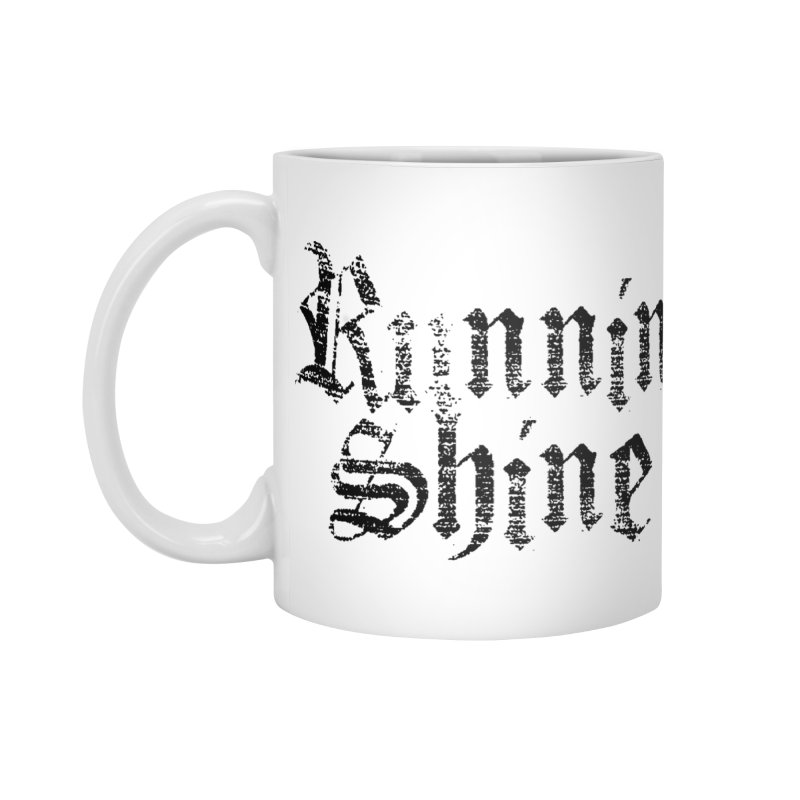 Black Logo Accessories Mug by Runnin' Shine Store