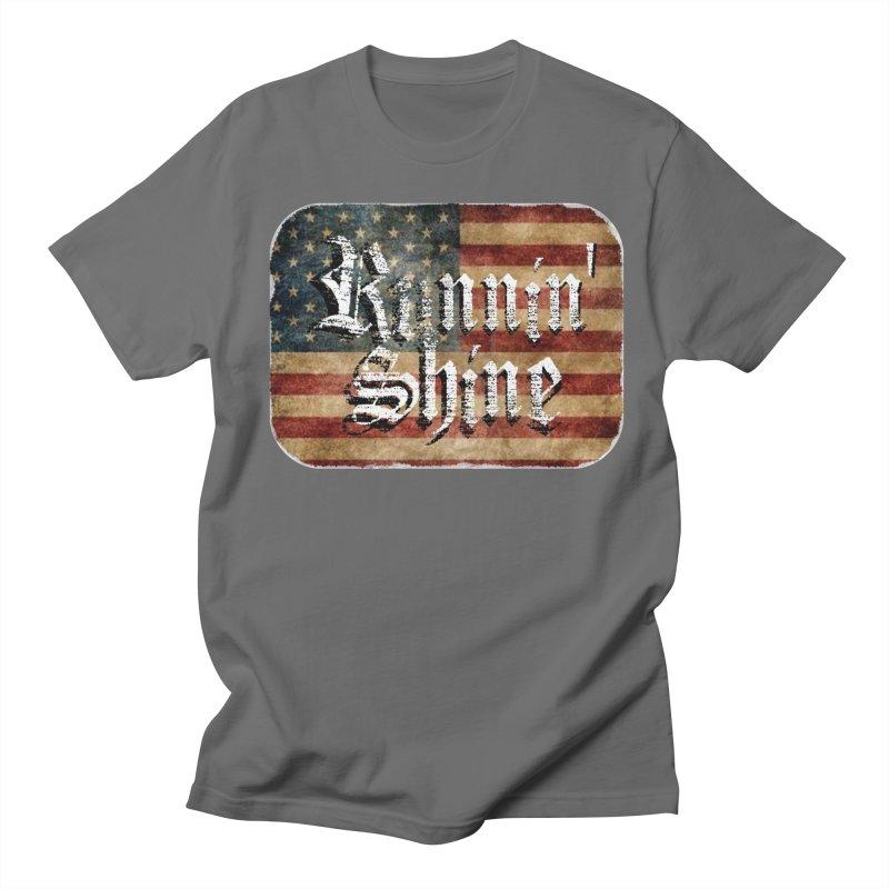 Runnin' Shine Flag Men's T-Shirt by Runnin' Shine Store
