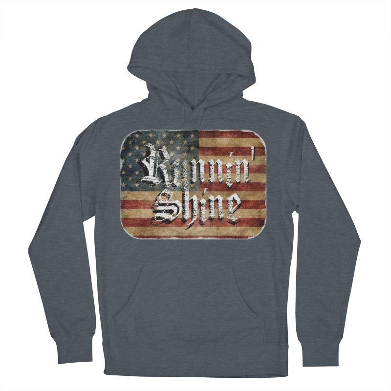 Runnin' Shine Flag Men's French Terry Pullover Hoody by Runnin' Shine Store
