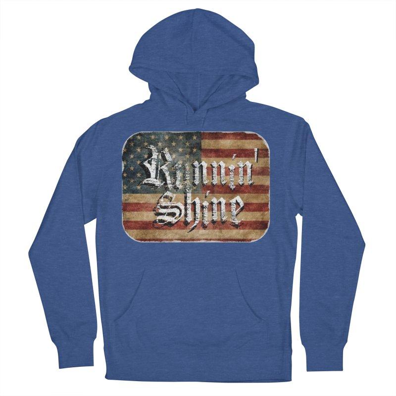 Runnin' Shine Flag Men's French Terry Pullover Hoody by Runnin' Shine Store