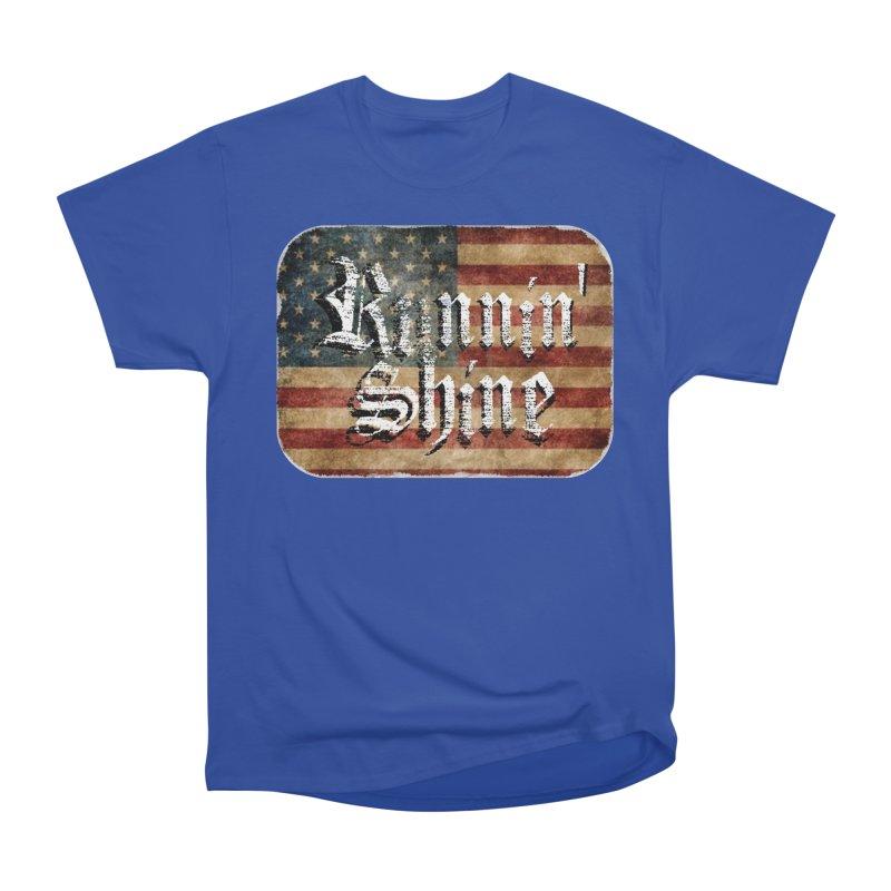 Runnin' Shine Flag Women's Heavyweight Unisex T-Shirt by Runnin' Shine Store