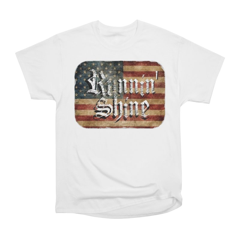 Runnin' Shine Flag Men's Heavyweight T-Shirt by Runnin' Shine Store