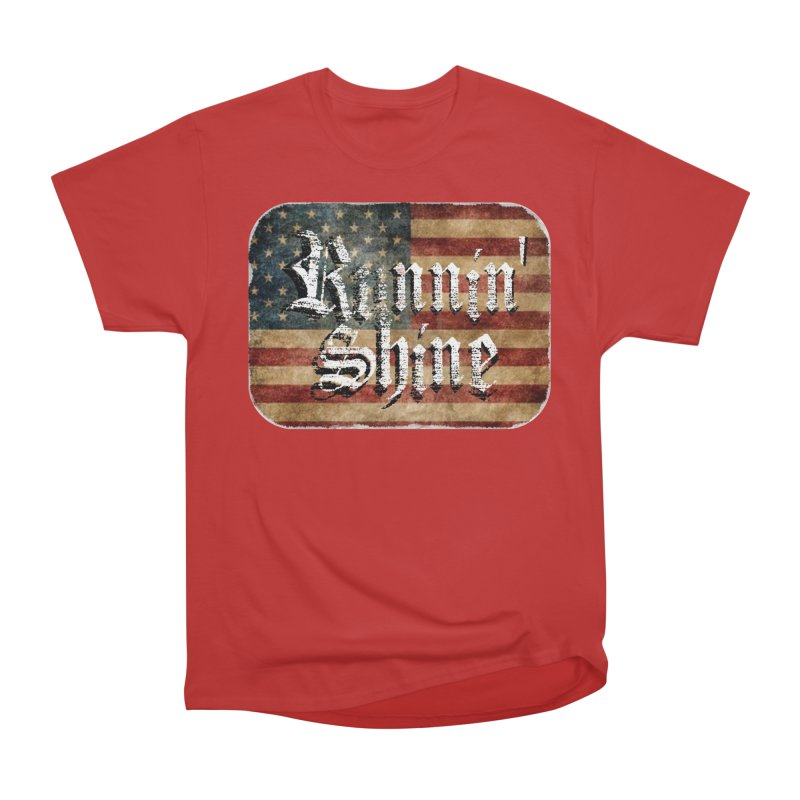Runnin' Shine Flag Women's Heavyweight Unisex T-Shirt by Runnin' Shine Store