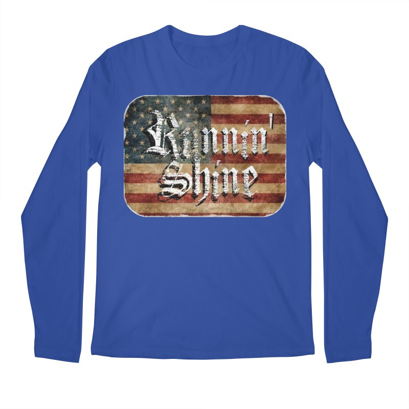 Runnin' Shine Flag Men's Regular Longsleeve T-Shirt by Runnin' Shine Store