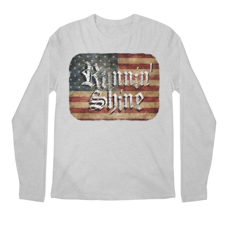 Runnin' Shine Flag Men's Regular Longsleeve T-Shirt by Runnin' Shine Store