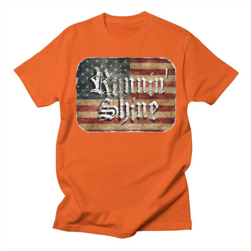 Runnin' Shine Flag Women's Regular Unisex T-Shirt by Runnin' Shine Store