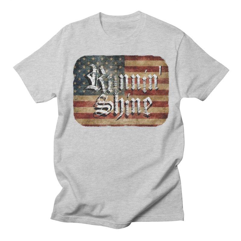 Runnin' Shine Flag Men's Regular T-Shirt by Runnin' Shine Store