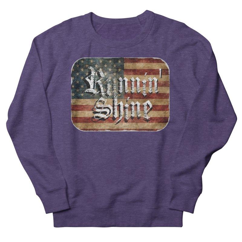 Runnin' Shine Flag Women's French Terry Sweatshirt by Runnin' Shine Store