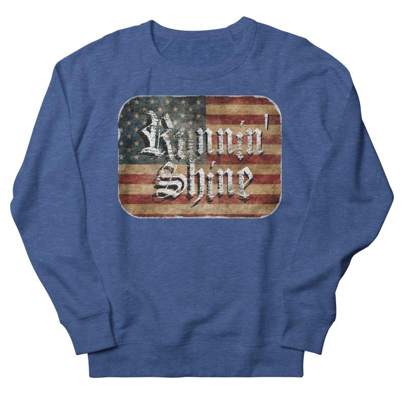 Runnin' Shine Flag Men's French Terry Sweatshirt by Runnin' Shine Store