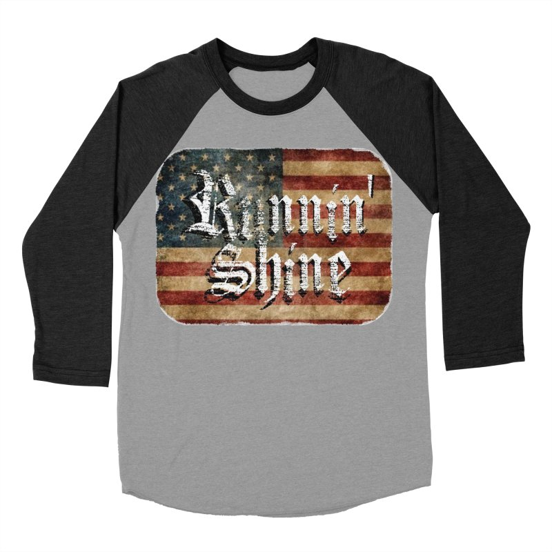 Runnin' Shine Flag Men's Baseball Triblend Longsleeve T-Shirt by Runnin' Shine Store