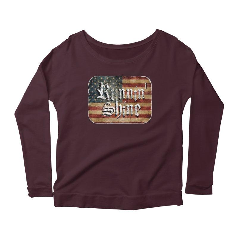 Runnin' Shine Flag Women's Longsleeve T-Shirt by Runnin' Shine Store