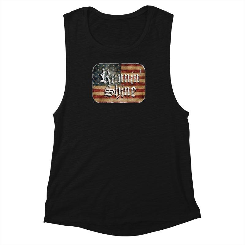 Runnin' Shine Flag Women's Muscle Tank by Runnin' Shine Store