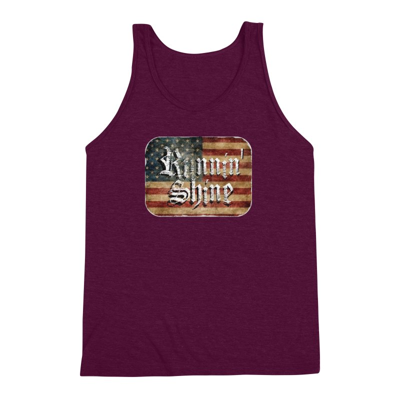 Runnin' Shine Flag Men's Triblend Tank by Runnin' Shine Store