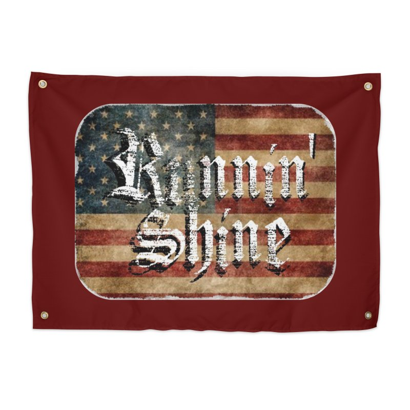 Runnin' Shine Flag Home Tapestry by Runnin' Shine Store
