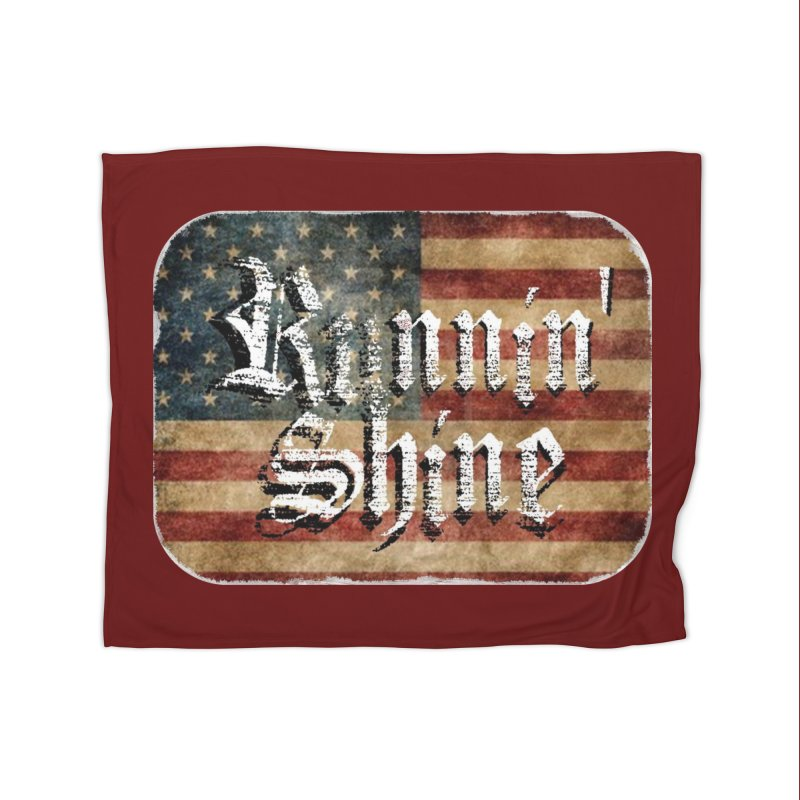 Runnin' Shine Flag Home Fleece Blanket Blanket by Runnin' Shine Store