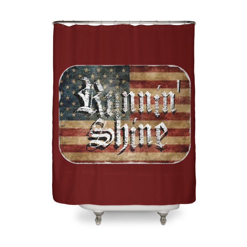 Runnin' Shine Flag Home Shower Curtain by Runnin' Shine Store