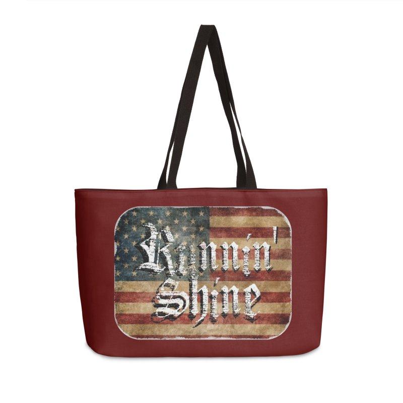 Runnin' Shine Flag Accessories Weekender Bag Bag by Runnin' Shine Store