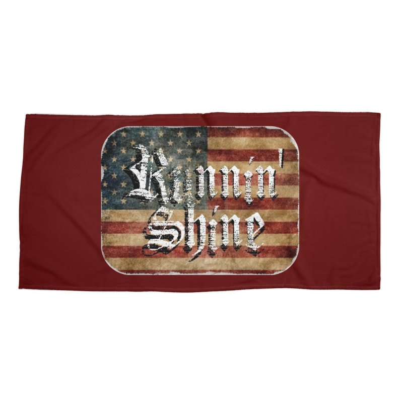 Runnin' Shine Flag Accessories Beach Towel by Runnin' Shine Store