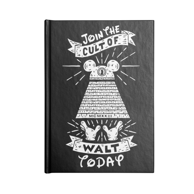 Join The Cult of Walt Today Accessories Lined Journal Notebook by Rupertbeard