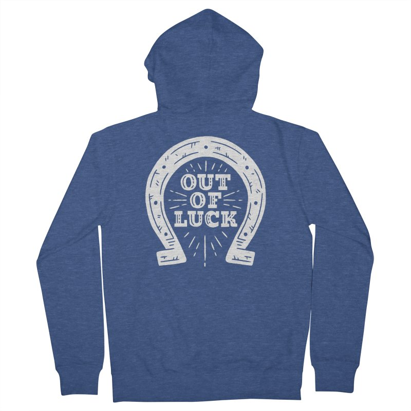Out Of Luck Women's French Terry Zip-Up Hoody by Rupertbeard