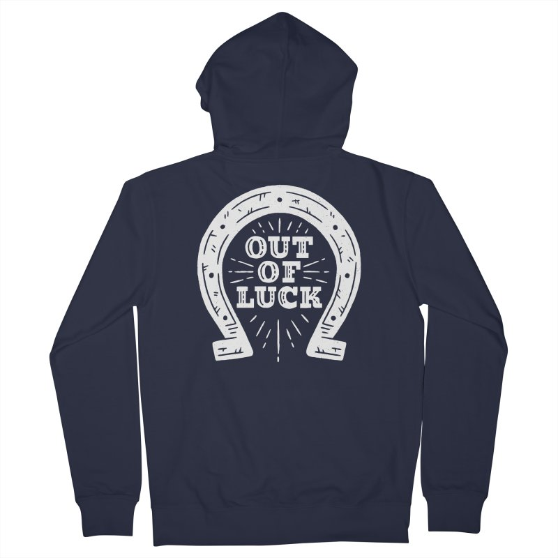 Out Of Luck Men's French Terry Zip-Up Hoody by Rupertbeard