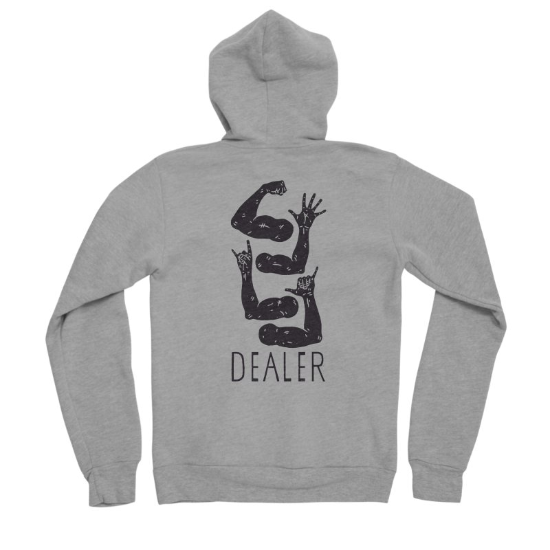 Arms Dealer Men's Sponge Fleece Zip-Up Hoody by Rupertbeard