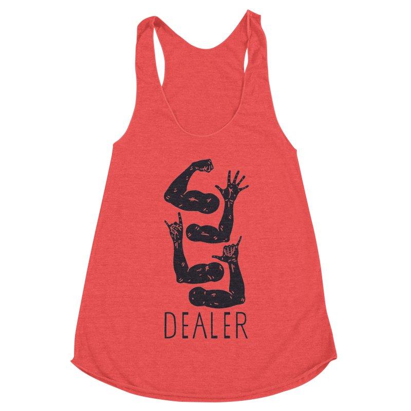 Arms Dealer Women's Racerback Triblend Tank by Rupertbeard