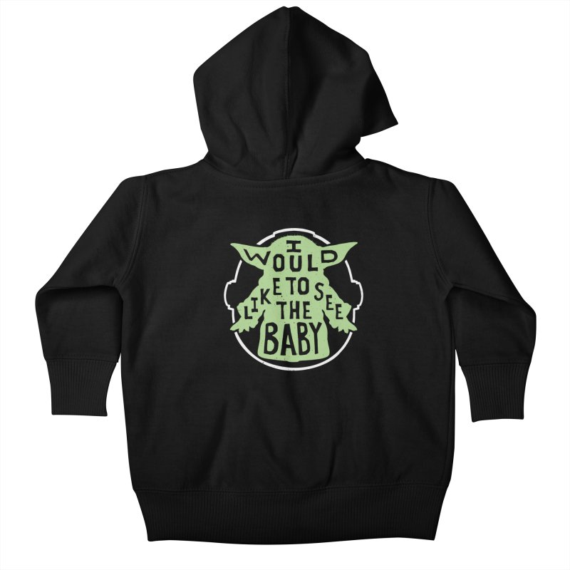 I Would Like To See The Baby Kids Baby Zip-Up Hoody by Rupertbeard